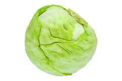 Cabbage. White cabbage close-up isolated on white background Royalty Free Stock Image