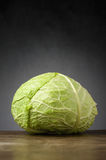 Cabbage on wooden table Royalty Free Stock Image