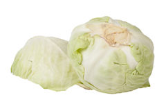 Cabbages isolated on a white background Stock Photos