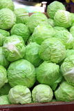 Cabbages on sale Royalty Free Stock Photo