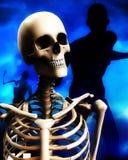 Cabeça 2 do zombi e do crânio Foto de Stock Royalty Free