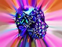 Cabeça 202 do computador ilustração royalty free