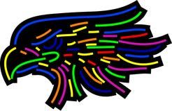 Cabeça abstrata da águia ilustração do vetor