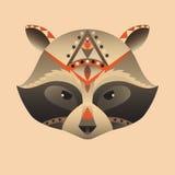 A cabeça abstrata da ilustração do vetor do guaxinim Imagem de Stock Royalty Free