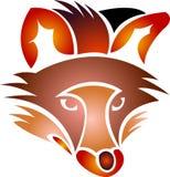 Cabeça abstrata da raposa ilustração do vetor