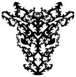 Cabeça abstrata do touro em preto e branco isolada ilustração do vetor