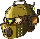 Cabeça amarela do robô Fotos de Stock