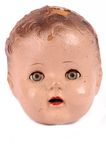 Cabeça antiga da boneca Imagens de Stock