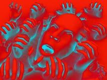 Cabeça assustador 12 Imagem de Stock Royalty Free