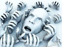 Cabeça assustador Imagem de Stock