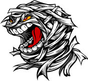 Cabeça assustador gritando do monstro de Halloween da mamã Imagens de Stock Royalty Free