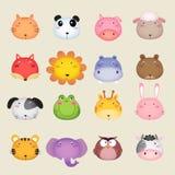 Cabeça bonito do animal dos desenhos animados Fotografia de Stock