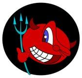 Cabeça bonito do diabo Imagens de Stock Royalty Free