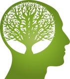 Cabeça, cara e árvore, cabeça e logotipo humano ilustração do vetor