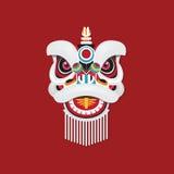 Cabeça chinesa da dança de leão do ano novo Imagens de Stock