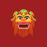 Cabeça chinesa da dança de leão do ano novo Foto de Stock Royalty Free