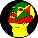 Cabeça colorida humana Fotografia de Stock Royalty Free