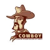 Cabeça com chapéu de vaqueiro Imagens de Stock Royalty Free