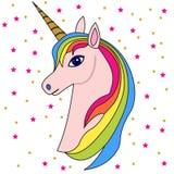 Cabeça cor-de-rosa 2 do unicórnio Imagens de Stock Royalty Free