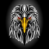 Cabeça da águia do ferro ilustração royalty free