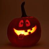 cabeça da abóbora do Dia das Bruxas das Jack-o'-lanternas Imagem de Stock
