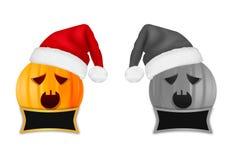 Cabeça da abóbora do Natal Fotografia de Stock Royalty Free