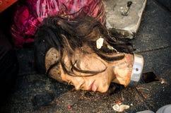 Cabeça da boneca suja do manequim Imagem de Stock