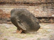 Cabeça da Buda, templo de Wat Maha That, Ayutthaya, Tailândia Fotos de Stock