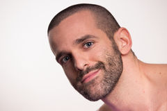Cabeça da cara do homem novo Foto de Stock