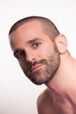 Cabeça da cara do homem novo Imagem de Stock Royalty Free