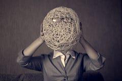 Cabeça da corda com vidros Imagem de Stock
