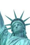 Cabeça da estátua da liberdade. Isolado. (NYC) fotografia de stock