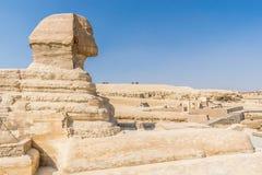 Cabeça da grande esfinge de Giza fotos de stock