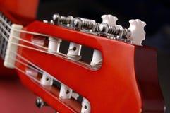 Cabeça da guitarra acústica Imagem de Stock Royalty Free