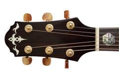 Cabeça da guitarra acústica Fotos de Stock Royalty Free
