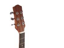 Cabeça da guitarra acústica Imagens de Stock