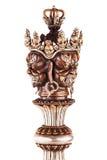 Cabeça da lâmina ritual de Phurba Imagem de Stock