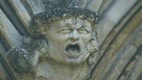 Cabeça da mísula na parte dianteira ocidental da catedral C de Salisbúria fotografia de stock royalty free