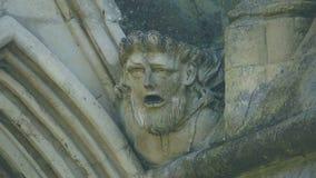 Cabeça da mísula na parte dianteira ocidental da catedral D de Salisbúria imagens de stock royalty free