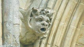 Cabeça da mísula na parte dianteira ocidental da catedral F de Salisbúria fotografia de stock royalty free