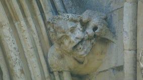 Cabeça da mísula na parte dianteira ocidental da catedral H de Salisbúria fotografia de stock royalty free