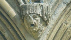 Cabeça da mísula na parte dianteira ocidental da catedral J de Salisbúria imagem de stock