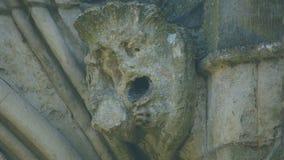 Cabeça da mísula na parte dianteira ocidental da catedral L de Salisbúria imagens de stock royalty free