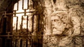 Cabeça da mísula no Sepia imagem de stock royalty free