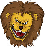 Cabeça da mascote do leão ilustração stock