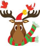Cabeça da rena do Natal Imagens de Stock