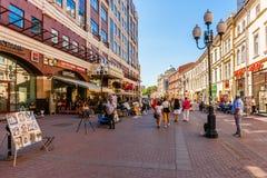 A cabeça da rua de Arbat de Moscou Foto de Stock