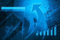 Cabeça da seta com carta e gráficos financeiros, elementos deste ima Imagem de Stock Royalty Free