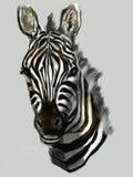 Cabeça da zebra da pintura do Cg Imagens de Stock Royalty Free