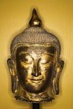 Cabeça de bronze de Buddha. foto de stock royalty free